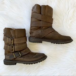 Jeffrey Campbell Trudge Distressed Leather Boots